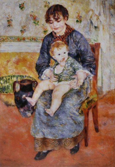 Pierre-Auguste_Renoir_-_Mère_et_enfant